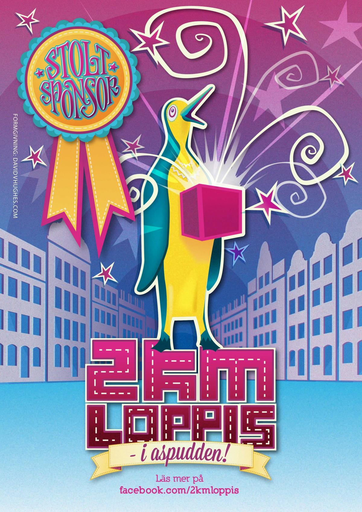 2KM Loppis - Stolt Sponsor Poster