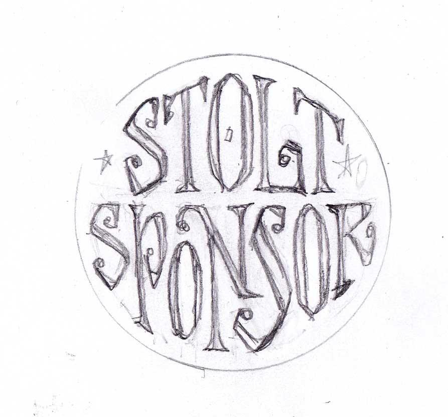 2KM Loppis - Stolt Sponsor custom text